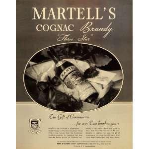 1934 Ad Martells Cognac Brandy Three Star Park Tilford