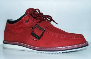 COOGI New Aston Low Top Red Mens Suede Leather Boot