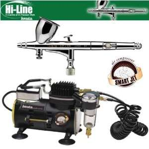 Iwata Kustom CH Airbrushing System with Smart Jet Pro Air Compressor