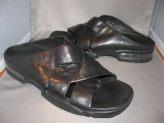 MENS COLE HAAN Country NIKE AIR BLACK LEATHER SLIDES STRAP SANDALS