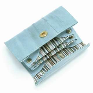 Genuine Eel skin Leather Small Coin Purse Case BLUE