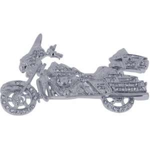 Silver Harley Davidson Motorcycle Austrian Crystal Sports
