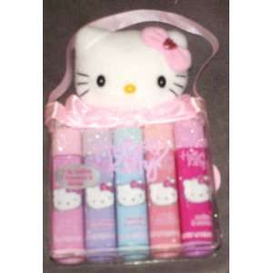 Hello Kitty Plush with 5 Lip Glosses Toys & Games
