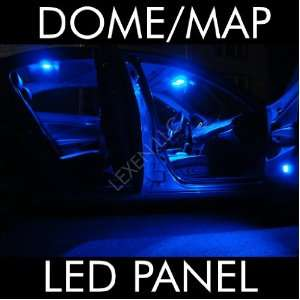 LED BLUE 2X DOME MAP INTERIOR LIGHT BULB 9 SMD CIRCLE PANEL XENON HID
