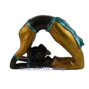 Yoga Figurine Dove Pose Kapotasana with free earrings