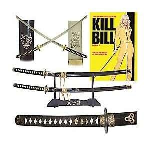 KILL BILL Katanas Two Sword Set with Display Stand Sports