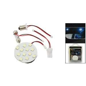 Amico White 12 LED Car Roof Dome Auto Bright Light Lamp Bulb w Festoon
