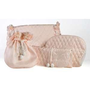 Womens Pink Silk Gift Set Beauty