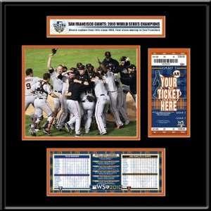 San Francisco Giants 2010 World Series Ticket Frame Junior