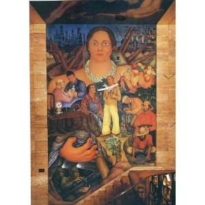 Hand Made Oil Reproduction   Diego Rivera   24 x 34 inches