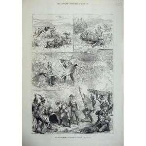 1879 Zululand Horses War Army Artist Fire Kraal Art