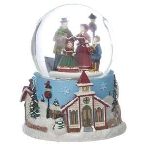 Personalized Large Carolers Snow Globe Christmas Ornament