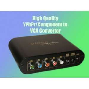 to VGA Converter with Integrated Audio Switch + Cables Electronics