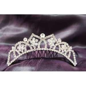 Beautiful Princess Bridal Wedding Tiara Crown with White/Clear Crystal