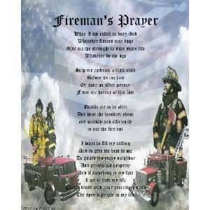 : Poem  Firemans Prayer   Emailed JPEG / JPG / PDF: Everything Else