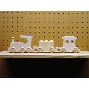 WOODEN TOY 3 CAR (BARREL) TRAIN (SMALL) Everything Else