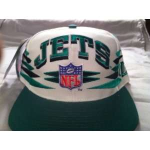 New York Jets Vintage White Spike Snapback Hat Everything