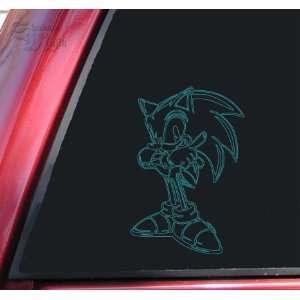 Sonic The Hedgehog Teal Vinyl Decal Sticker Automotive