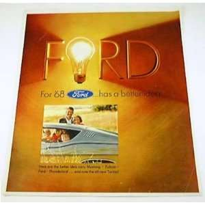 1968 68 FORD BROCHURE XL Galaxie Torino Mustang Falcon
