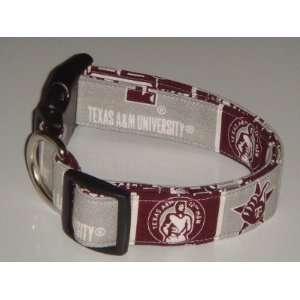 NCAA Texas A&M University Aggies Silver Medium 1 Dog