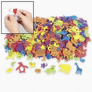500 Assorted Bug Shape Foam Self Adhesive Craft Stickers Toys & Games
