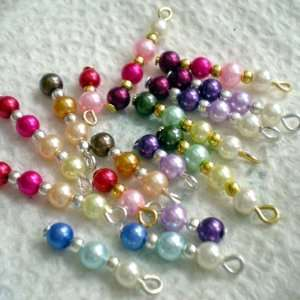 Beaded Dangle Pieces of Glass Pearls Fit Bracelet ~Jewelry Making