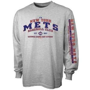 New York Mets Ash Fan Club Long Sleeve T shirt Sports & Outdoors