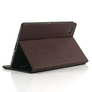 Brown / PU Leather Flip Stand Case for Galaxy Tab GT P6800