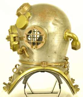 US NAVY MARK V SCHRADER ANTIQUE DIVING HELMET JANUARY 1942   GREAT WW2