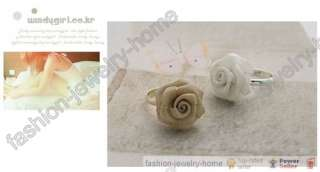 Fashion Lovely Alloy Rose Flower Silver Plated Ring For Sexy Girl