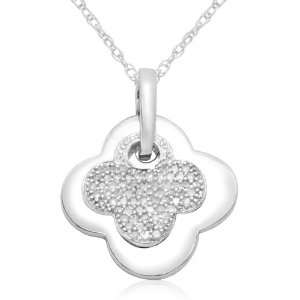 Gold Diamond Pendant (1/3 cttw, I J Color, I3 Clarity), 18 Jewelry