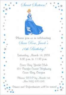 Cinderella Sweet 16 Birthday Party Invitations & Favor