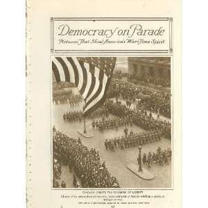 1918 World War I Patriotic Parades Chicago Washington New