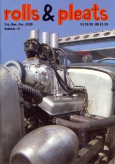 ROLLS & PLEATS MAGAZINE #19 HOT ROD RAT STREET CUSTOM OLD SCHOOL RETRO