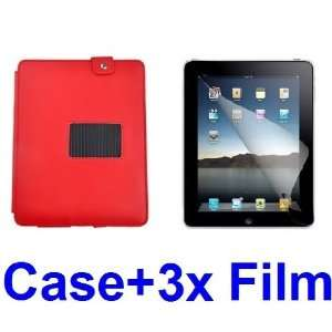 NEEWER® Red PU Leather Case Cover w/Stand for iPad 2 Wifi