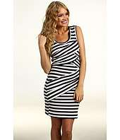 Nicole Miller   Striped Jersey Scoop Neck Dress