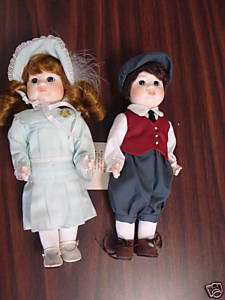 Hopechest Heirloom Pouty kids Brother and Sister Dolls