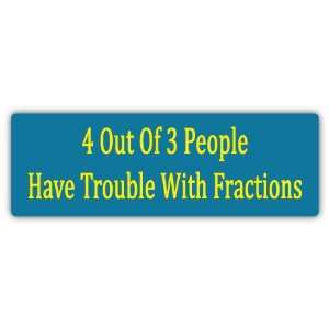of 3 People Funny Car Bumper Sticker Decal 6 X 2