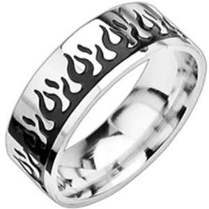 Spikes 316L Stainless Steel Two Tone Light My Fire Ring Jewelry