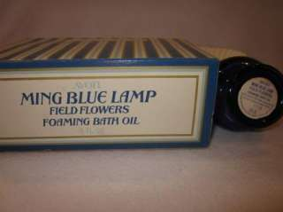 Vintage Avon Ming Blue Lamp Perfume Bottle W/ Box