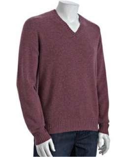 Brunello Cucinelli mauve cashmere v neck sweater