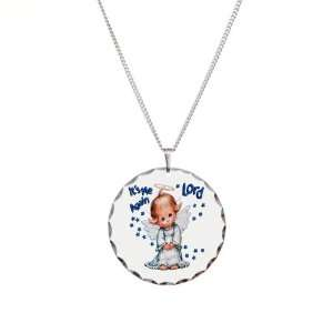 Necklace Circle Charm Its Me Again Lord Prayer Angel