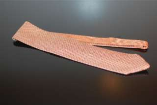 NWT $245 Tom Ford SUMMER RARE Peach White Bicolor Knit Silk Mens Tie