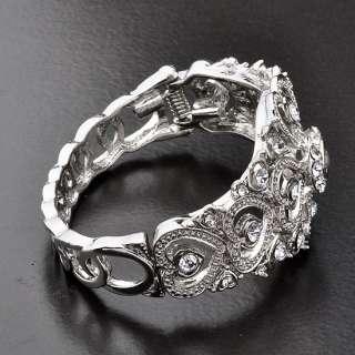 Fashion Party Jewelry Bracelet,Hearts Sliver Tone Cuff