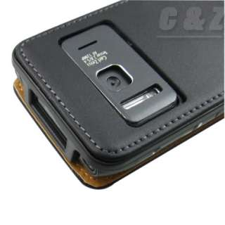 Genuine Leather Case Pouch + LCD Film for NOKIA N8 f