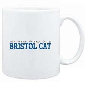Mug White  My best friend is a Bristol  Cats Sports