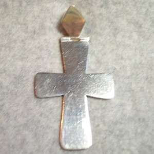 Sterling Silver 3 CROSS Pendant Charm Unisex Mexico