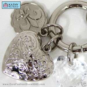 KEY CHAIN Keychain Charm Ring Crystal Women Gift 00846524050417