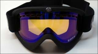 Dragon DXS Snow Goggles Coal (Black)/Blue Ion (Ionized) Ski 722 2472