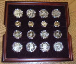 1995 1996 US OLYMPIC GOLD & SILVER COINS ATLANTA CENTENNIAL ONLY 160